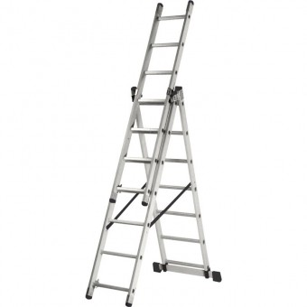 Лестница алюминиевая трёхсекционная Вихрь ЛА 3х7