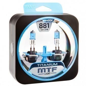 Лампы MTF Titanium H27 881 (12 V, 27 W, 2 шт)