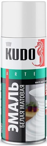"Краска-спрей ""KUDO"" KU-1101 стандарт Белая матовая (520мл) аэрозоль"