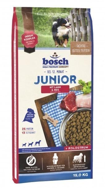 Сухой корм для собак Bosch Junior, ягнёнок и рис, 15 кг
