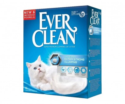 Наполнитель кошачьего туалета Ever Clean Extra Strong Clumping Unscented (бентонит, 6 кг, 6 л, без запаха)