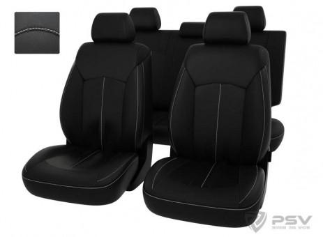 Чехлы Оригинал Chevrolet Cruze (2010-2015) - черный/отстрочка белая, 121040