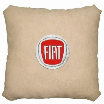 Подушка замшевая Fiat (А02- светло-бежевая)