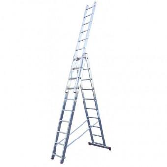 Лестница алюминиевая трёхсекционная Вихрь ЛА 3х10