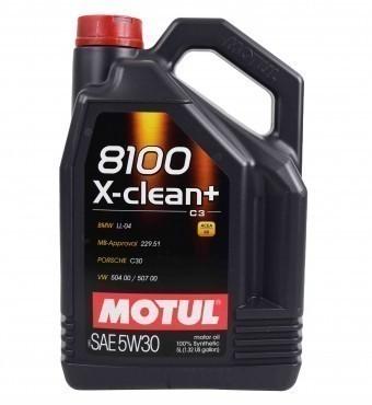 Масло моторное Motul 8100 X-clean+ 5W30 (5 л)