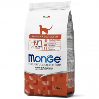 Сухой корм для кошек Monge Daily Line - Senior (1,5 кг)