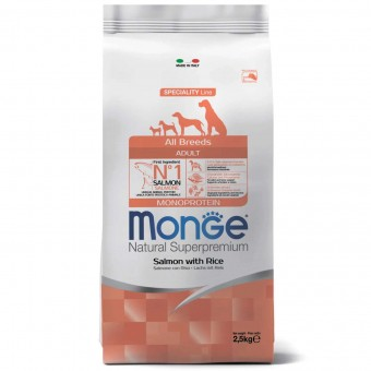 Сухой корм для собак Monge Specialty Line - Adult Salmone (2,5 кг)