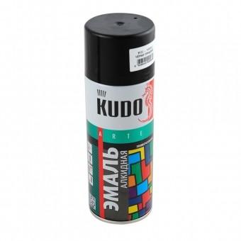 """Краска-спрей """"KUDO"""" KU-1002 стандарт Черная глянцевая (520мл) аэрозоль"""