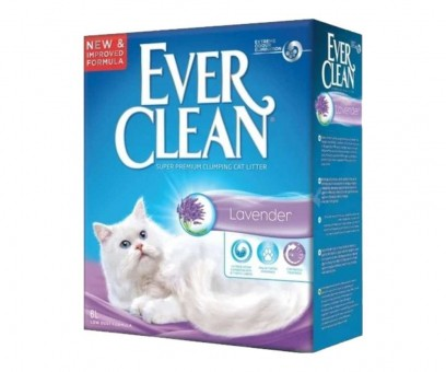 Наполнитель кошачьего туалета Ever Clean Lavender (бентонит, 6 кг, 6 л, лаванда)
