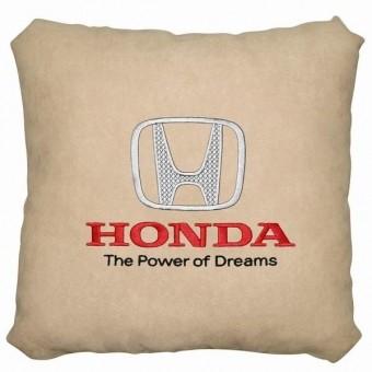 Подушка замшевая Honda (А02 - светло-бежевая)