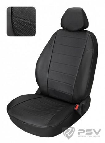 "Чехлы  Honda Civic 5D 2006-2012 г. - (VIII) Hb черный аригон ""Автопилот"""