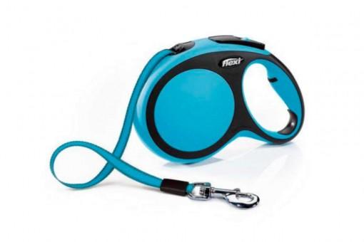 Рулетка Flexi Comfort New M, лента, 5 м, черно-голубой