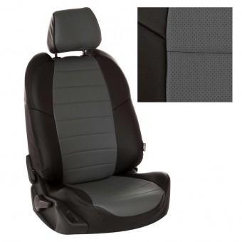 Чехлы Автопилот Лада Гранта (2011>) Luxe - черно-серые