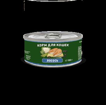 Консервы для кошек Solid Natura Holistic, лосось (100 г)