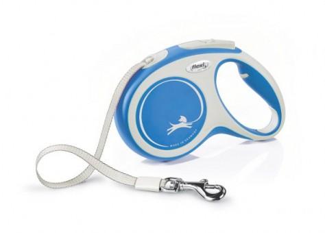 Рулетка Flexi Comfort New M, лента, 5 м, серо-синий