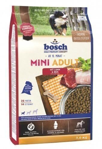 Сухой корм для собак Bosch Mini Adult, ягненок и рис,  3 кг