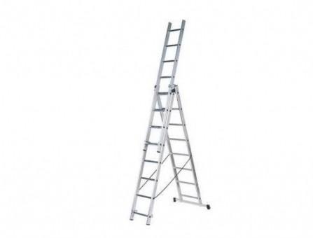 Лестница алюминиевая трёхсекционная Вихрь ЛА 3х8