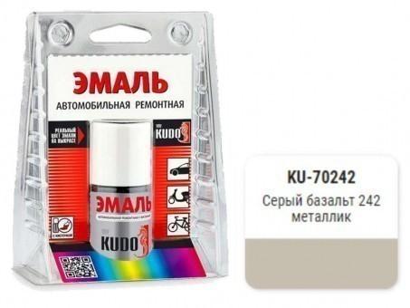Краска-кисточка KUDO KU-70242 (ВАЗ, 242, серый базальт, металлик)