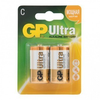 Батарейки C (LR14) GP Ultra (блистер, 2 шт)