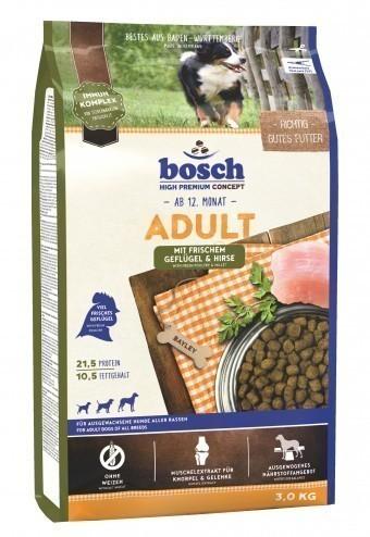 Сухой корм для собак Bosch Adult, птица и просо, 3 кг