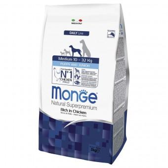 Сухой корм для щенков Monge Daily Line - Medium Puppy & Junior (3 кг)