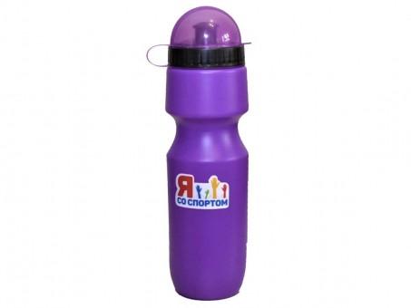 Бутылка для воды «Я со Спортом» БС-75-01, фиолетовая, с крышкой, 750 мл.