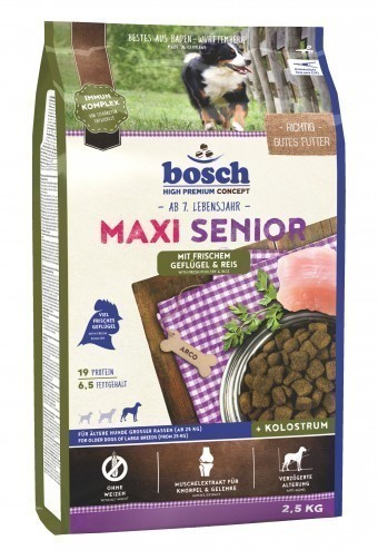Сухой корм для собак Bosch Maxi Senior, птица и рис, 2,5 кг