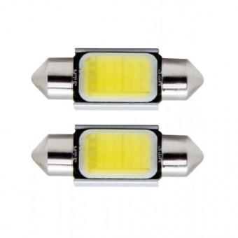 Светодиодные лампы MTF C5W COB (5500К, белая, 2 шт)
