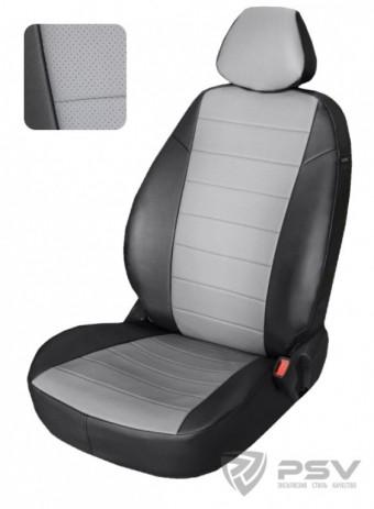 """Чехлы Citroen C4 II 2010-> Hb черно-серый аригон """"Автопилот"""""""