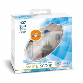 Лампы SVS White 5000K H27 880 (12 V, 27W, +2 W5W)