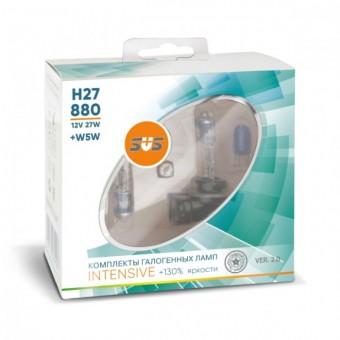 Лампы SVS Intensive +130% H27 881 (12 V, 27W, +2 W5W)