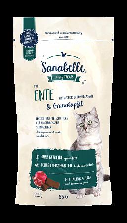 Лакомство для кошек Sanabelle Snack, утка и гранат (55 г)
