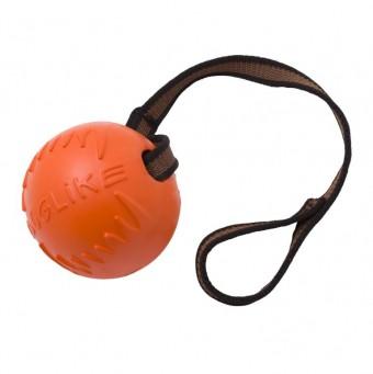 Игрушка DogLike Мяч с лентой (оранжевый, диаметр 8,5 см)