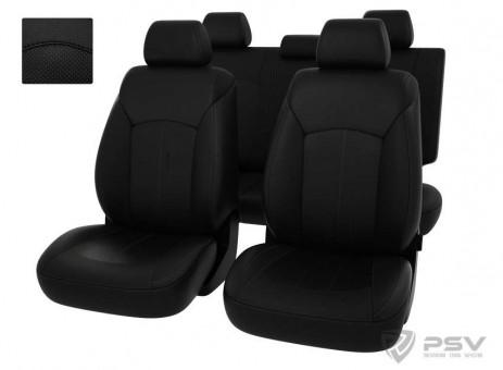Чехлы Оригинал Chevrolet Cruze (2010-2015) - черный/отстрочка черная, 124678