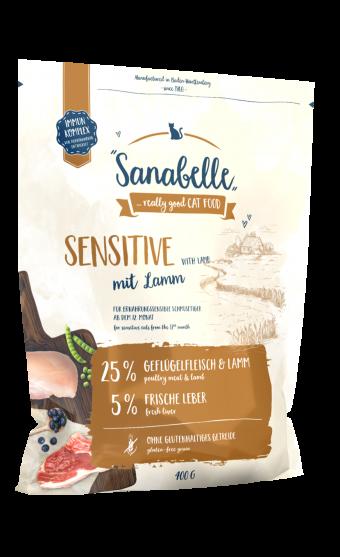 Сухой корм для кошек  Sanabelle Sensitive с ягнёнком NEW, 0,4 кг