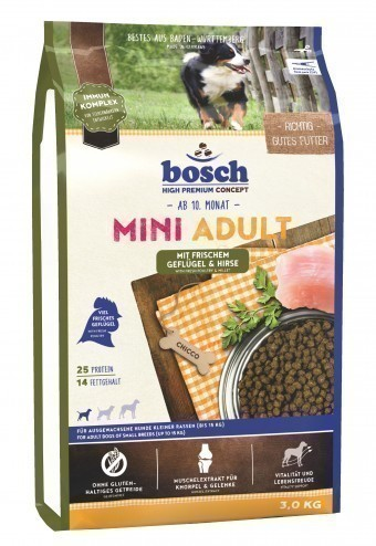 Сухой корм для собак Bosch Mini Adult, птица и просо, 3 кг
