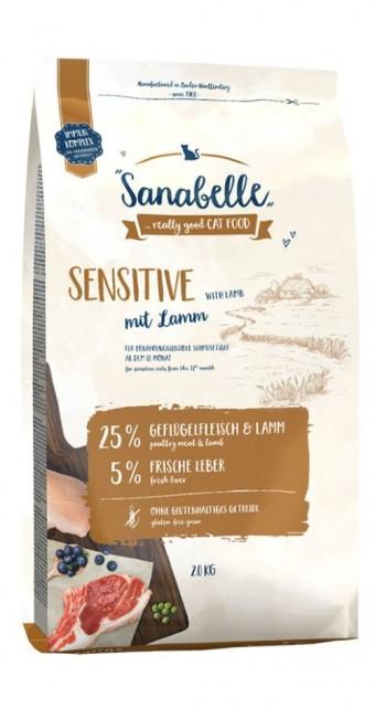 Сухой корм для кошек  Sanabelle Sensitive с ягнёнком NEW, 2 кг