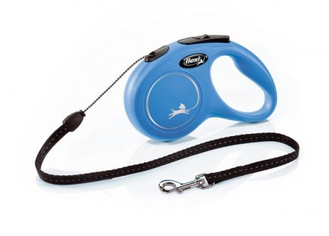 Рулетка Flexi Classic New S, трос, 5 м, синий