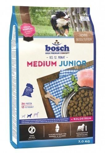 Сухой корм для собак Bosch Medium Junior, 3 кг