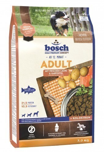 Сухой корм для собак Bosch Adult, лосось и картофель, 3 кг