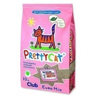 Наполнитель кошачьего туалета Pretty Cat Euro Mix Aroma (глиняный, 10,0 кг, алоэ)