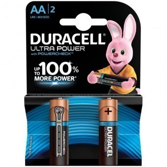 Батарейки AA (LR06) Duracell Ultra Power (блистер, 2 шт)