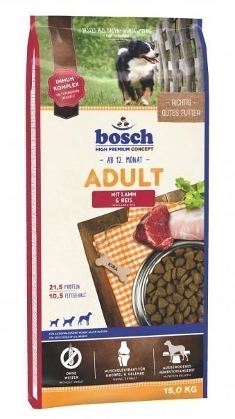 Сухой корм для собак Bosch Adult, ягнёнок и рис, 15 кг
