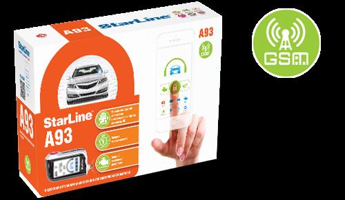 Автосигнализация StarLine A93 GSM (а/з, 4 SIM)