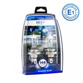 Лампы MTF Dynamic Blue H4 (12 V, 55/60 W, 2 шт)