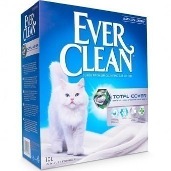 Наполнитель кошачьего туалета Ever Clean Total Cover (глиняный, 10,0 кг, 10 л, без запаха)