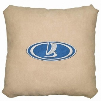Подушка замшевая Lada (А02 - светло-бежевая)