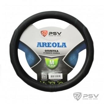 Оплетка руля PSV Areola (черная/отстрочка синяя)