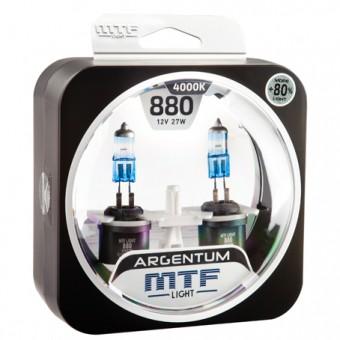 Лампы MTF Argentum +80% H27 880 (12 V, 27 W, 2 шт)