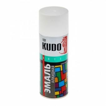 """Краска-спрей """"KUDO"""" KU-1001 стандарт Белая глянцевая (520мл) аэрозоль"""